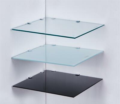 Eckregal Glasboden 6mm Glasplatte Glasregal Regalhalter Glas Regal Schwarz