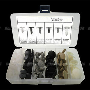 227 Auto Body Clips Plastic Fastener Fir Tree Push Type Retainer Assortment Kit