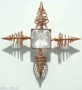 Crystal-Quartz-Bronze-Coil-Point-Programmable-Pyramid-Energy-Generator