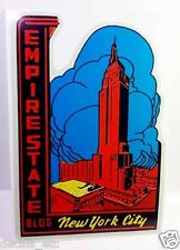 Empire State Building Vintage Style Travel Decal / Vinyl Sticker, Luggage Label