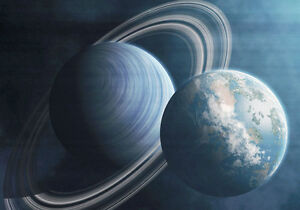 3D Space Planet Ring Unive Full Wall Mural Photo Wallpaper Print Paper Home Deco