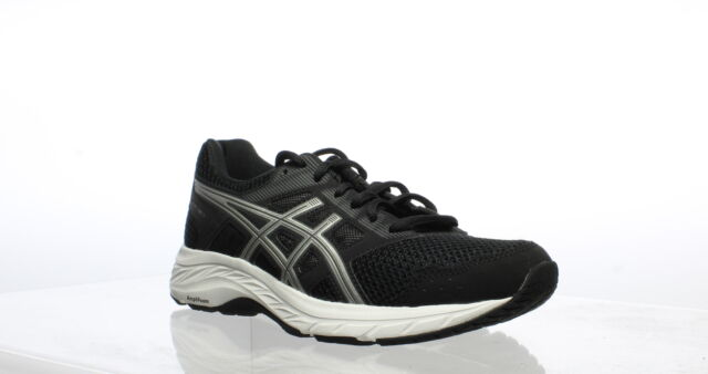 ASICS Womens Gel-Contend 5 Black/Silver Running Shoes Size 8 (755891)