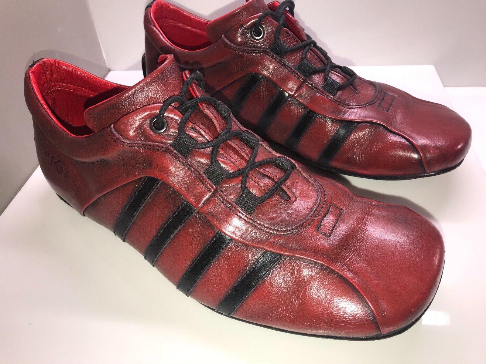 BKR BUNKER zapatos hombres Talla 11 US rojo LEATHER CASUAL zapatos  Talla 44 EUR VINTAGE