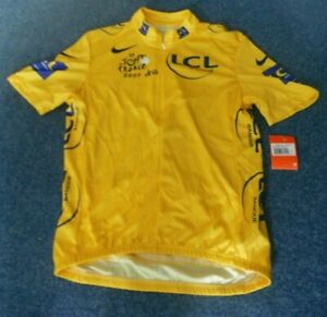 TOUR-DE-FRANCE-2007-NIKE-YELLOW-LEADERS-CYCLING-JERSEY-Large-adult-BNWT