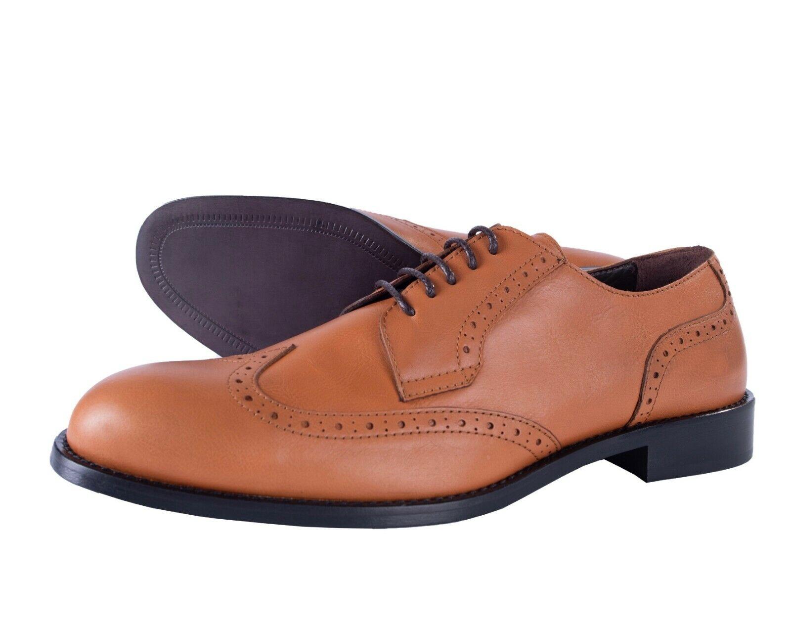 Bcouriro Magli Chaussures Bout D'Aile Richelieu à Cedar Cuir Luxe Italie 43 10 US
