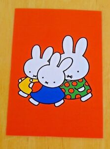 039-WITH-LOVE-FROM-MIFFY-039-POSTCARD-MIFFY-MUMMY-BUNNY-amp-FRIEND-2001-DICK-BRUNA