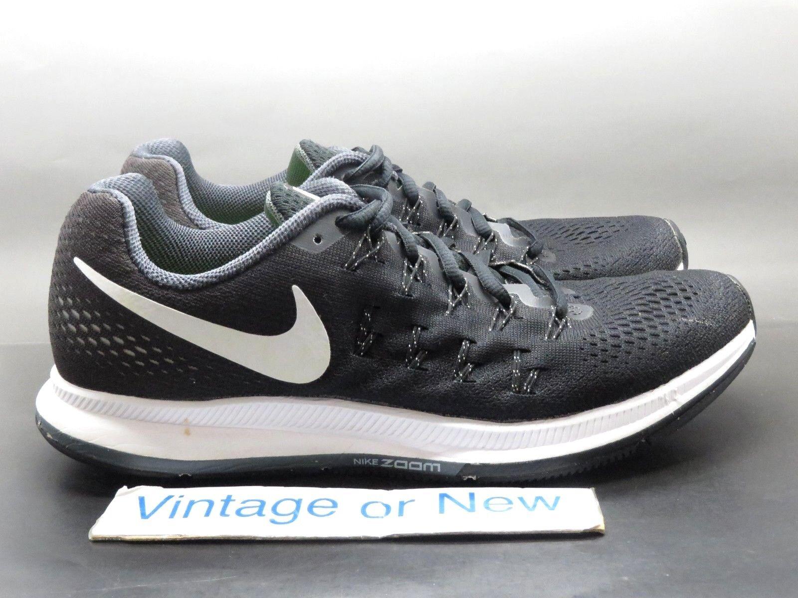 Nike Air Zoom Pegasus 33 Black White Anthracite Running Shoes 831352-001 sz 9