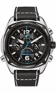 Bulova-Precisionist-Men-039-s-98B226-Quartz-Chronograph-Black-Dial-46mm-Watch