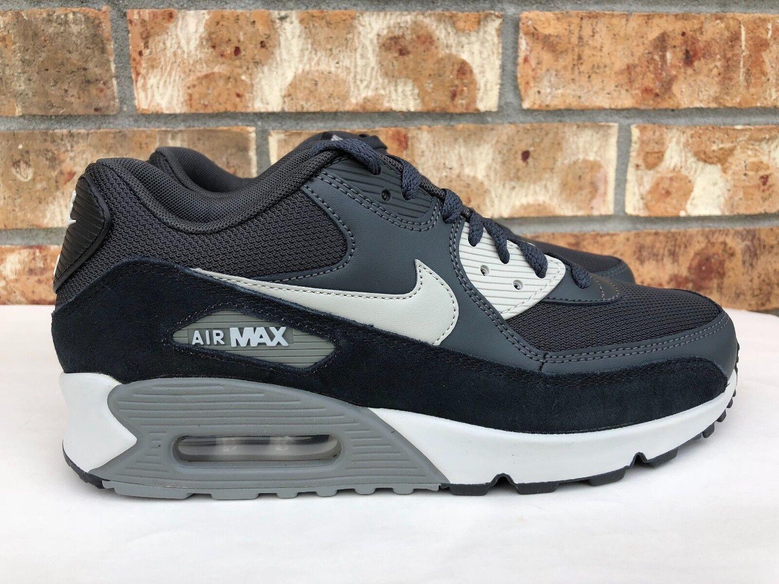 Men's Nike Air Max 90 Essential Athletic Anthracite Granite-Black 537384-035