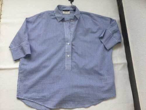 Neu Baumwolle O'polo Oversize Gestreift Blau Gr Bluse Weiß Marc Damen 34 vxqw68dOO