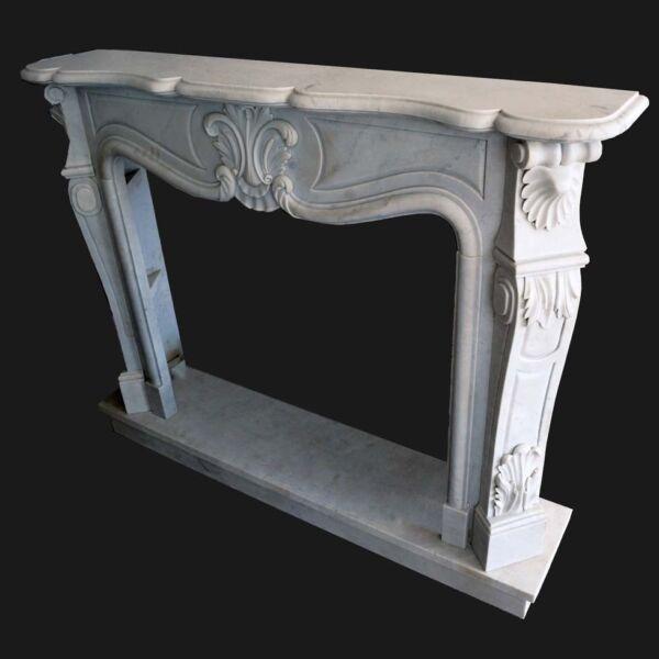 Adaptable Cheminée Marbre Carrara Cadre Style Classique White Marble Classic Frame