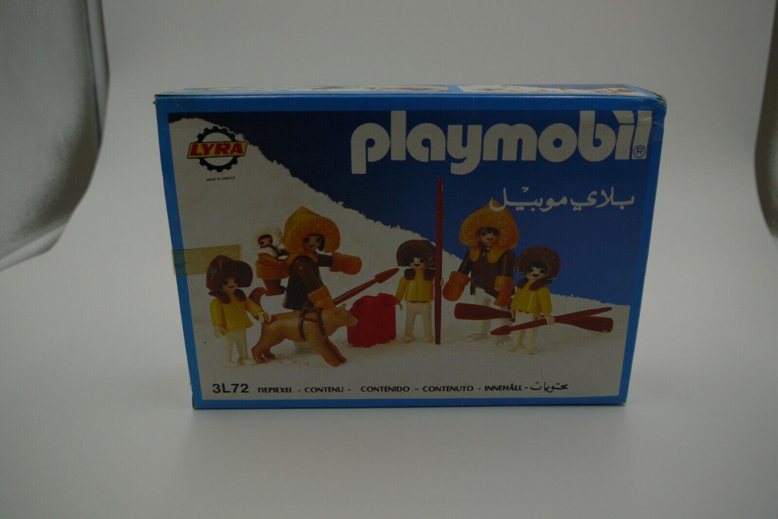 PLAYMOBIL 3L72 3L72 3L72 GREEK LYRA ESKIMO FAMILY FIGURE SET MIB d64324