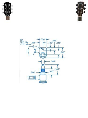 Meccaniche per chitarra elettrica o acustica autobloccanti Sperzel Trim Lok 3+3