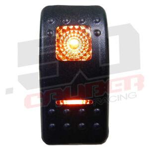 Orange Led On/Off/ON Rocker Light Switch 20 amp 12 or 24 Volt Power ...
