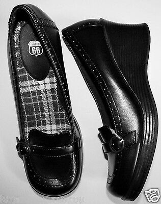 ROUTE 66 GIRLS STYLISH SHOES HEELS SIZE 8 NEW BLACK GREAT FOR SCHOOL