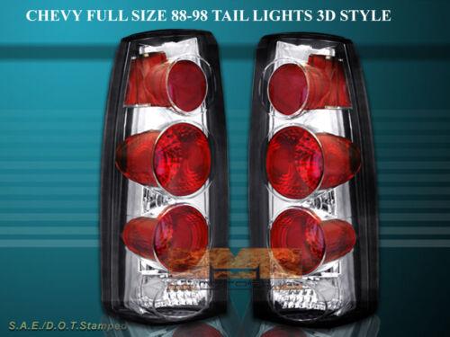 88-98 CHEVY FULL SIZE SIERRA C10 TAIL LIGHTS 3D 95 96