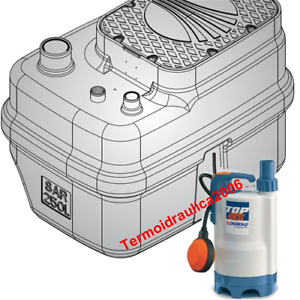 Storage-Lifting-Station-250L-Dirty-Waste-Water-SAR250TOP3VORTEX-0-75-Pedrollo