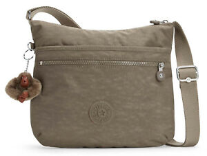 Kipling-Basic-Eyes-wide-open-arto-SHOULDERBAG-Borsa-True-Beige-Marrone-Nuovo