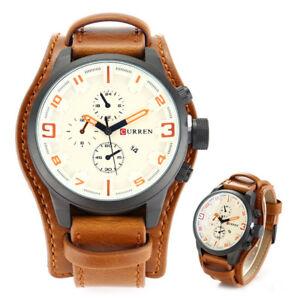 Fashion-Curren-Men-Date-Stainless-Steel-Leather-Analog-Quartz-Sport-Wrist-Watch