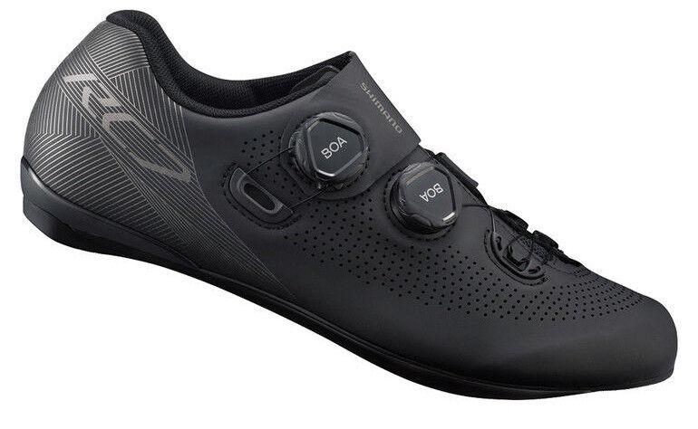 Shimano RC7 Kohlenstoff Straße Fahrrad Schuhe SH-RC701 Schwarz 47 (Us 11.8)