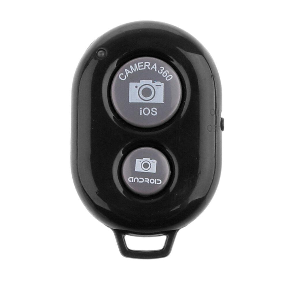 Black Bluetooth Remote Camera Press Shutter Button for Taking Selfie Photo