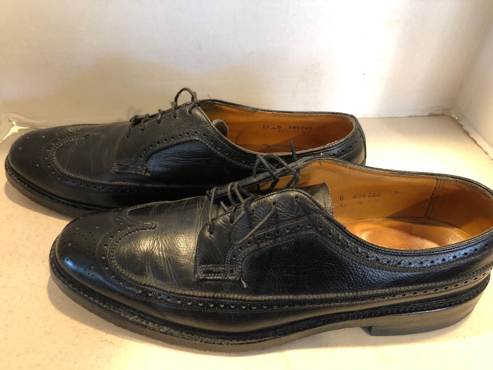 vintage ungetragen 7,5 Caballero zapatillas de Business Slipper cuero marrón talla 41