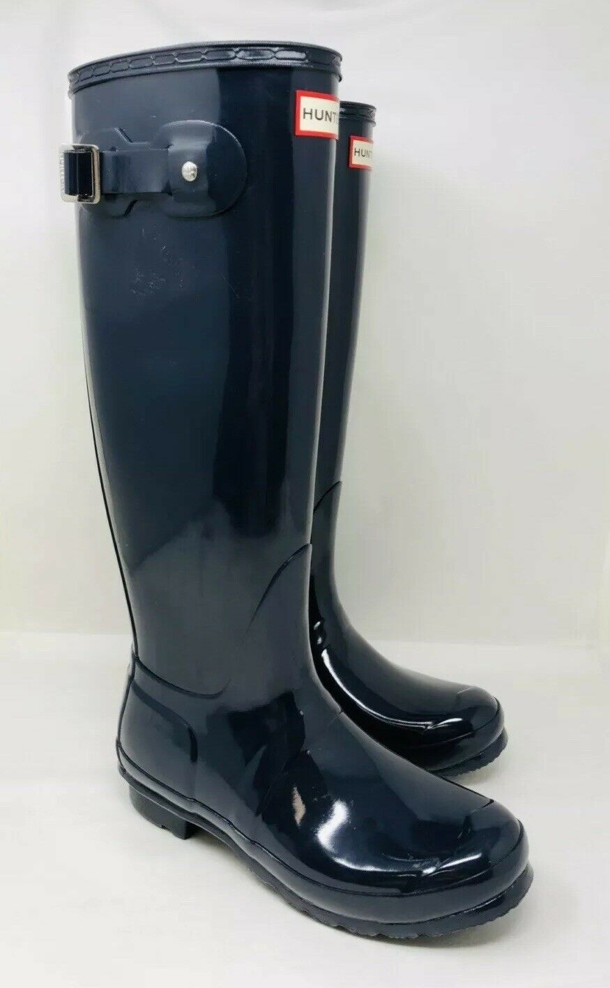 tutto in alta qualità e prezzo basso Hunter Donna  Original Tall Gloss Gloss Gloss Waterproof Rain stivali Dimensione 8 Navy, No Box  ci sono più marche di prodotti di alta qualità