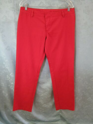 Hurley Jeans Juniors Size 9 Low Rider Red Denim