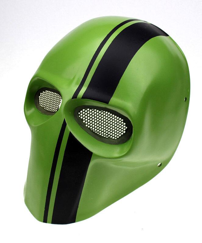 Fine NEW Fiber Resin Mesh Eye Airsoft Paintball Full Face Mask Halloween L439