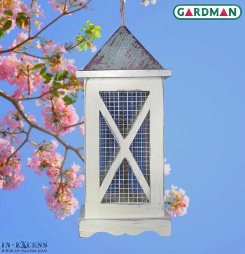 Gardman Decorative Lantern Garden Peanut Bird Feeder Light Wood A09616