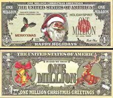 100 Santa Claus Christmas Million Dollar FAKE Play Funny Money Gospel Tract
