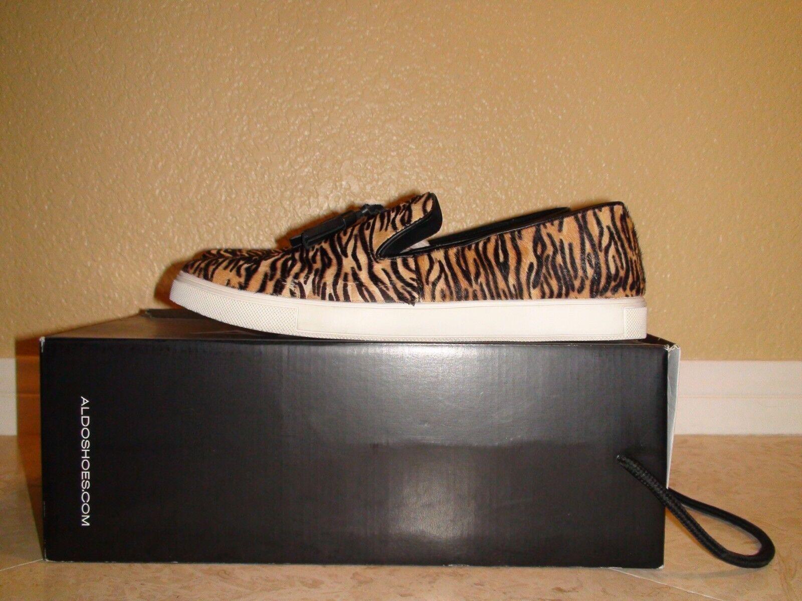 Men's Aldo Wibba Casual Faux Animal Loafers Sz 42 Eur 9 US Slip On Canvas shoes