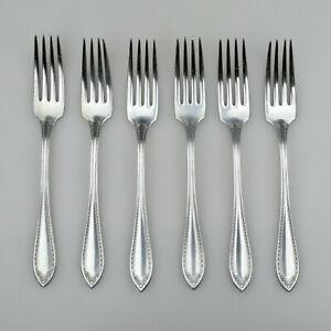 6 Vintage Antique Oneida Community Silver Plated Sheraton  Steak Forks 1910