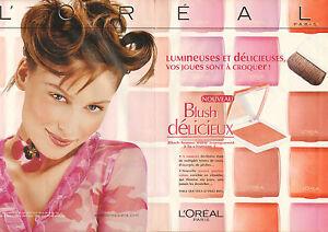 Publicité Advertising 2002 ( Double page ) L'OREAL blush  Laetitia Casta