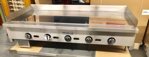"""60""""Griddle Chrome Mirror Top Thermostatic Flat Grill Thermostat Gas Miraclean"""