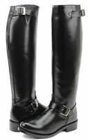 Fammz Raven Woman Ladies Police Motorcycle Engineer Trooper Leather Tall Boots