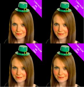 Pack 24 x St Patricks Day Leprechaun Mini Top Hat Irish Fancy Dress Costume 0044