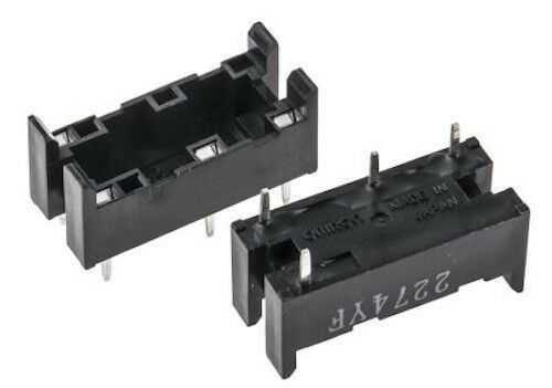 2 x P6B04P Relay Socket, Through Hole, Quick Connect, 4 Pins