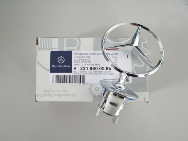 Original Mercedes-Benz Stern W204 W212 W213 W221 Motorhaube A2218800086 NEU