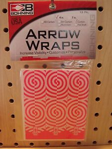 """Bohning Carbon Arrow Wraps 4"""" Hot Pink Repeat 13 Pack NEW"""