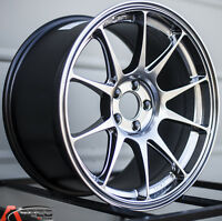 17x9 +42 Rota Titan 5x114.3 Hyper Black Rims Fits Lexus Is250 Is300 Es350 5x4.5