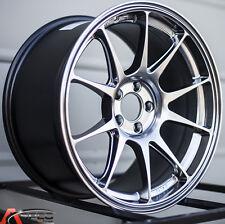 17X8 +45 ROTA TITAN 5X114.3 HYPER BLACK WHEELS Fits Mazda 3 6 Rx7 Rx8 Fusion