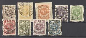Memel-Mi-Nr-141-50-aus-Lit-Besetzung-1923-fast-komplett-gestempelt-31895
