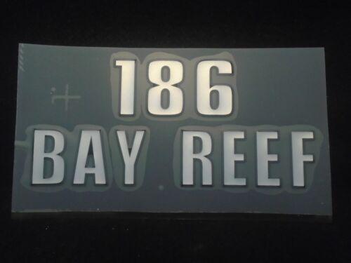 "Black Key West Boat Decal /""186 Bay Reef/"" Silver CD-186BR"