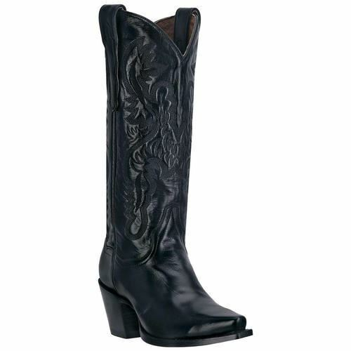 Dan Post Damen Maria Western Cowboy Leder Stiefel Dp3200 Schwarz