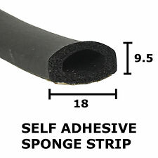 Sponge D Rubber Self Adhesive Extrusion 18 mm x 9.5 mm