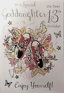 Image Is Loading 13th Birthday Card Female Daughter Granddaughter Goddaughter Sister