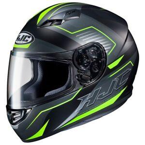 NEW-HJC-Helm-CS-15-Trion-schwarz-neon-gelb-matt-Gr-XL-61-62-Motorradhelm