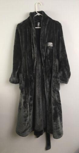 Dunder Mifflin Dark Gray Plush Soft Polyester Robe