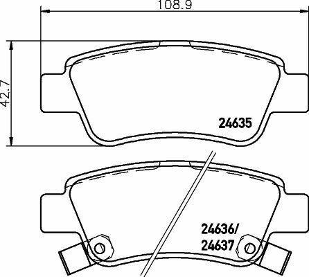 Mintex MDB2926 Brake Pad Set Disc Freno Trasero